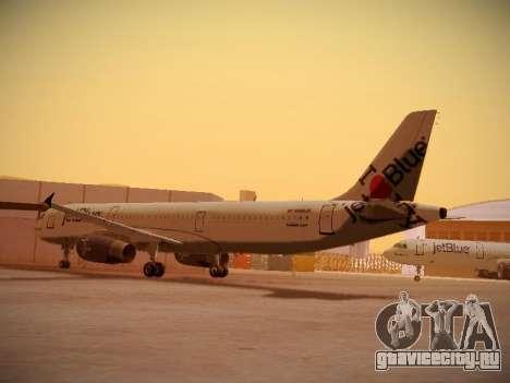 Airbus A321-232 jetBlue I love Blue York для GTA San Andreas вид сзади слева