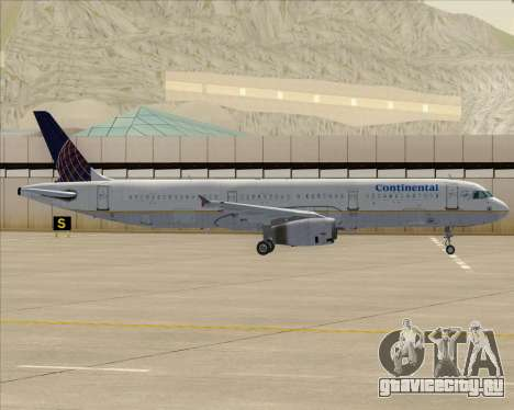 Airbus A321-200 Continental Airlines для GTA San Andreas двигатель