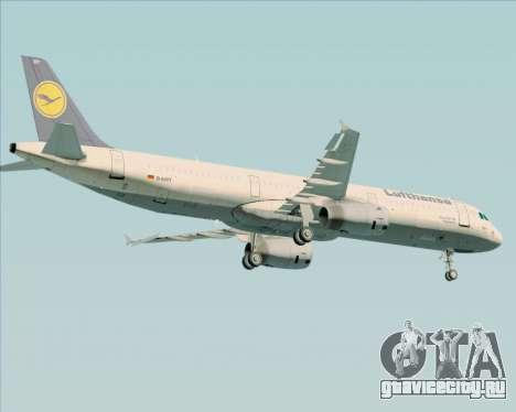 Airbus A321-200 Lufthansa для GTA San Andreas вид снизу