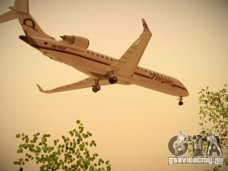 Bombardier CRJ-700 Horizon Air для GTA San Andreas вид сзади слева