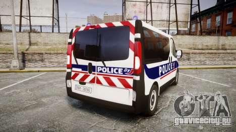 Renault Trafic Police Nationale для GTA 4 вид сзади слева