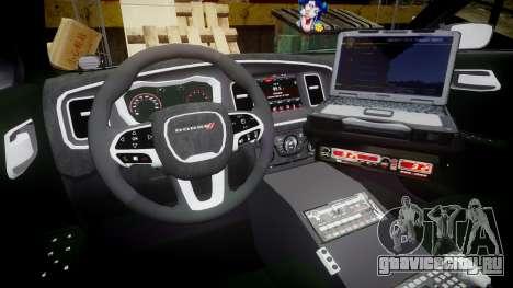 Dodge Charger 2015 City of Liberty [ELS] для GTA 4 вид сзади