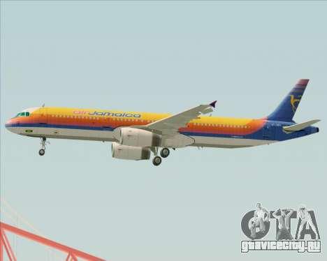 Airbus A321-200 Air Jamaica для GTA San Andreas двигатель