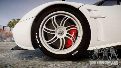 Pagani Huayra 2013 Carbon для GTA 4 вид сзади