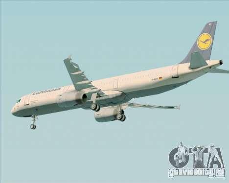 Airbus A321-200 Lufthansa для GTA San Andreas вид сзади