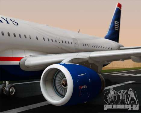 Airbus A321-200 US Airways для GTA San Andreas двигатель