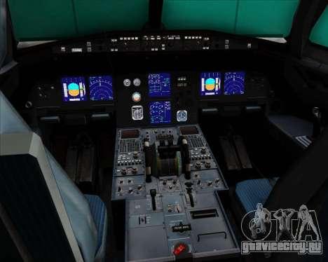 Airbus A321-200 Lufthansa для GTA San Andreas салон