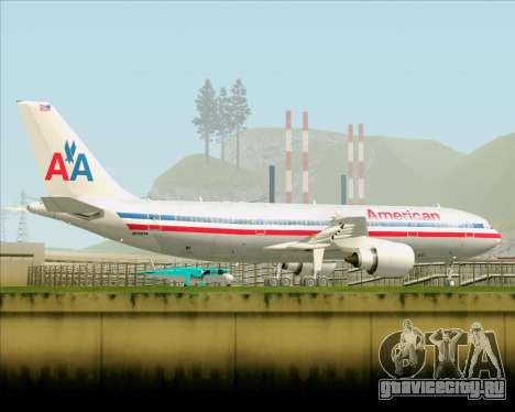 Airbus A300-600 American Airlines для GTA San Andreas вид сверху