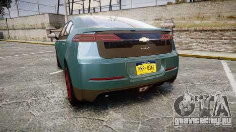 Chevrolet Volt 2011 v1.01 rims2 для GTA 4 вид сзади слева