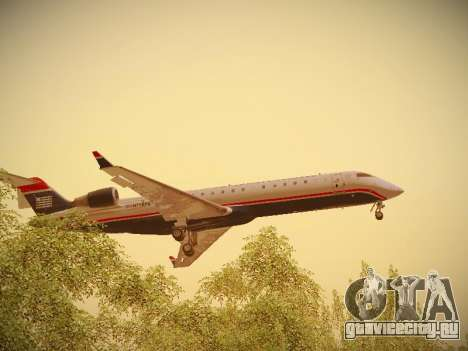 Bombardier CRJ-700 US Airways Express для GTA San Andreas салон