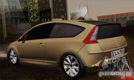 Citroen C4 VTS 2010 для GTA San Andreas вид слева