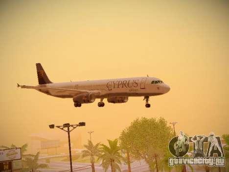 Airbus A321-232 Cyprus Airways для GTA San Andreas вид сверху