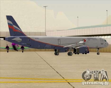 Airbus A321-200 Aeroflot - Russian Airlines для GTA San Andreas колёса