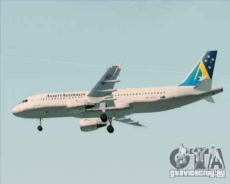 Airbus A320-200 Ansett Australia для GTA San Andreas двигатель