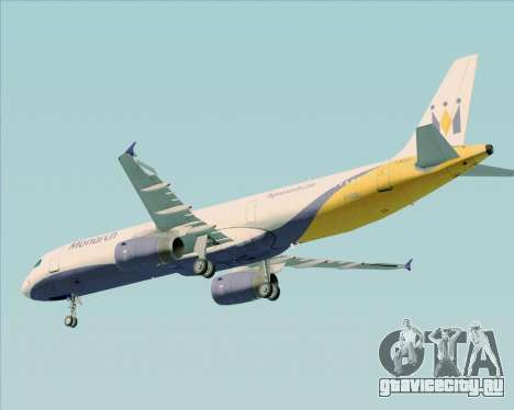 Airbus A321-200 Monarch Airlines для GTA San Andreas вид снизу