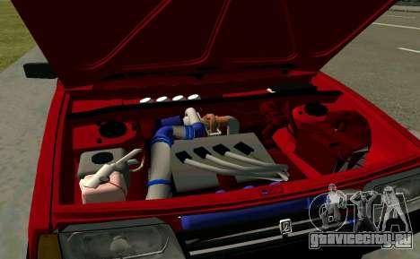 ВАЗ 2108 Turbo-TAZ для GTA San Andreas вид сзади