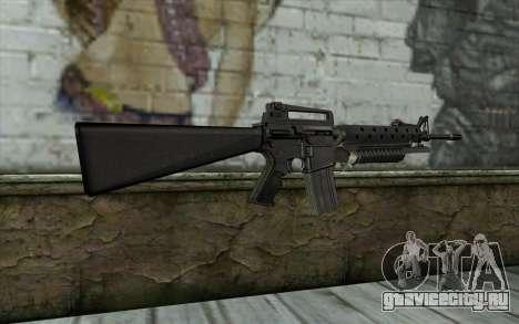 М16A4 с подствольником М203 для GTA San Andreas второй скриншот