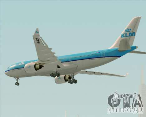 Airbus A330-200 KLM - Royal Dutch Airlines для GTA San Andreas вид сбоку