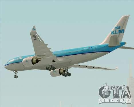 Airbus A330-200 KLM - Royal Dutch Airlines для GTA San Andreas вид сбоку