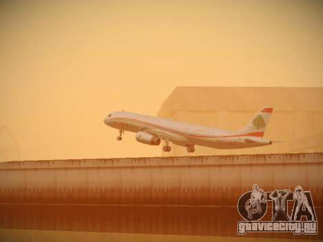 Airbus A321-232 Middle East Airlines для GTA San Andreas вид снизу