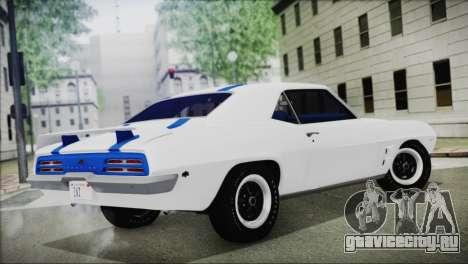 Pontiac Firebird Trans Am Coupe (2337) 1969 для GTA San Andreas вид слева