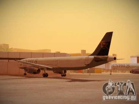 Airbus A321-232 Cyprus Airways для GTA San Andreas вид сзади слева