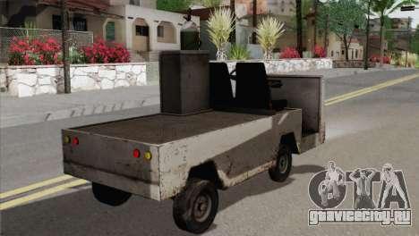 Umbrella Cart для GTA San Andreas вид сзади слева