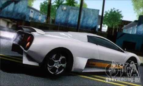 GTA 5 Infernus для GTA San Andreas вид слева