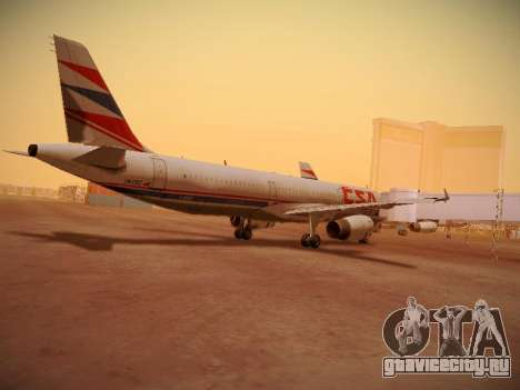 Airbus A321-232 Czech Airlines для GTA San Andreas вид изнутри