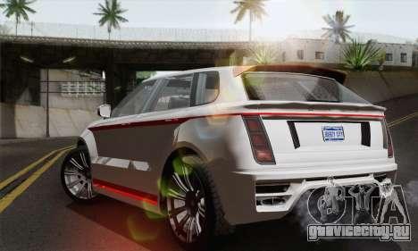 Huntley S для GTA San Andreas вид слева