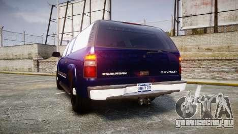 Chevrolet Suburban Undercover 2003 Grey Rims для GTA 4 вид сзади слева