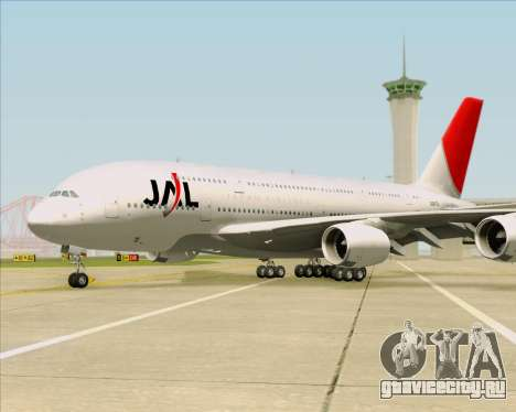 Airbus A380-800 Japan Airlines (JAL) для GTA San Andreas вид снизу
