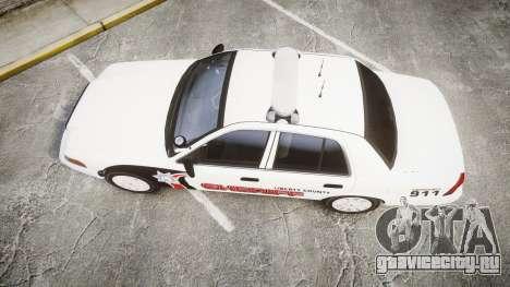 Ford Crown Victoria LC Sheriff [ELS] для GTA 4 вид справа