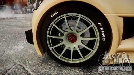 Gumpert Apollo S 2011 для GTA 4 вид сзади