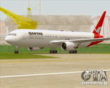 Boeing 767-300ER Qantas (Old Colors) для GTA San Andreas вид сверху