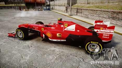 Ferrari F138 v2.0 [RIV] Massa TSD для GTA 4 вид слева