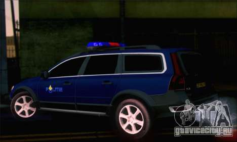 Volvo XC70 K9 Politie для GTA San Andreas вид слева