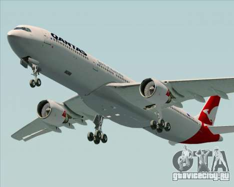 Airbus A330-300 Qantas (New Colors) для GTA San Andreas двигатель