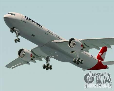 Airbus A330-300 Qantas (New Colors) для GTA San Andreas двигатель