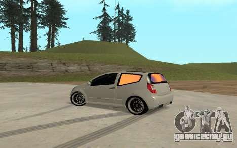 Citroen C2 для GTA San Andreas вид слева