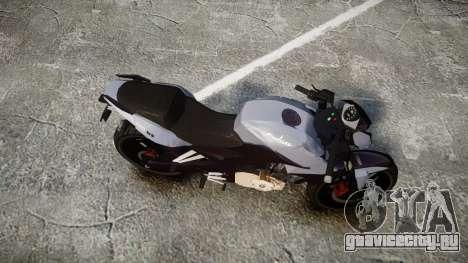 Bajaj Pulsar 200NS 2012 для GTA 4 вид справа