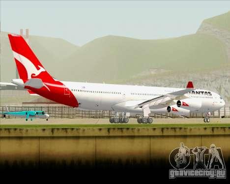 Airbus A340-300 Qantas для GTA San Andreas вид снизу