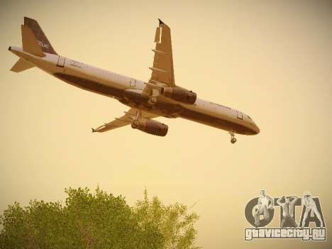 Airbus A321-232 jetBlue Batty Blue для GTA San Andreas салон