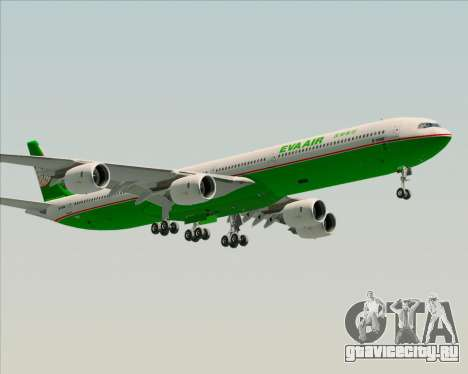 Airbus A340-600 EVA Air для GTA San Andreas вид сбоку