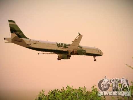 Airbus A321-232 jetBlue NYJets для GTA San Andreas салон