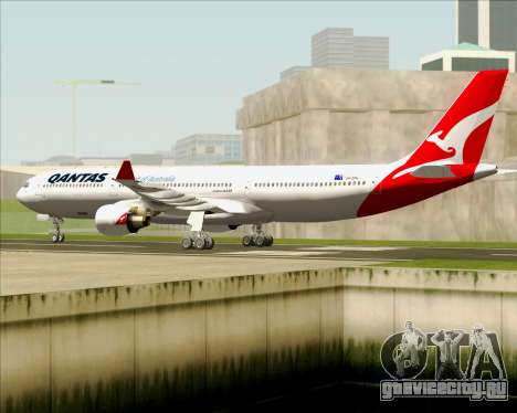 Airbus A330-300 Qantas (New Colors) для GTA San Andreas вид сзади