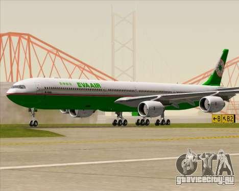 Airbus A340-600 EVA Air для GTA San Andreas вид сзади слева