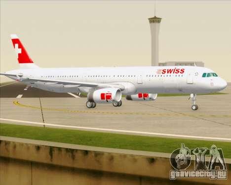 Airbus A321-200 Swiss International Air Lines для GTA San Andreas вид сверху