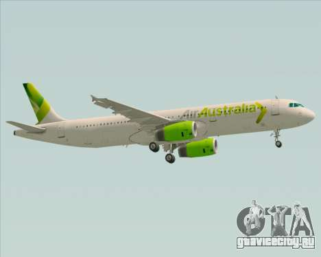 Airbus A321-200 Air Australia для GTA San Andreas вид изнутри