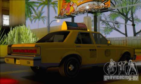 Willard Marbelle Taxi Saints Row Style для GTA San Andreas вид слева